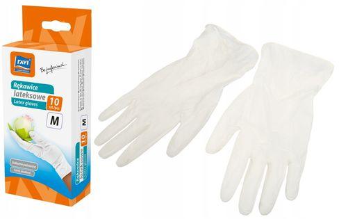 Rękawice lateksowe rozm. M 10 sztuk