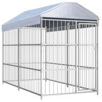 Kojec dla psa z dachem, 300 x 150 cm