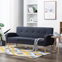 3-osobowa sofa tapicerowana tkaniną ciemnoszara VidaXL