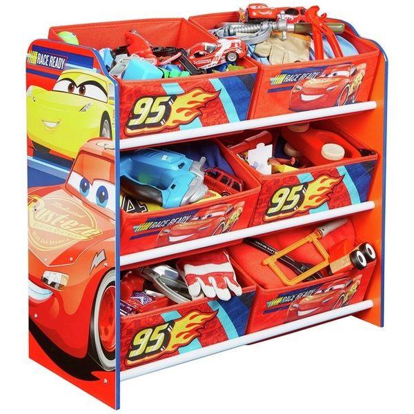 Półka z koszami na zabawki Cars - Auta zdjęcie 1