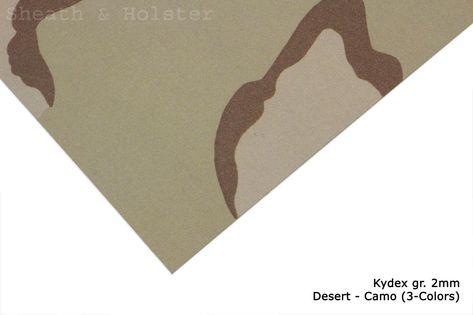 Kydex Desert - Camo (3-Color) - 150x200mm gr.2mm