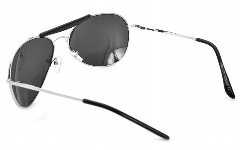 Aviator okulary przeciwsłoneczne pilotki metal zdjęcie 3