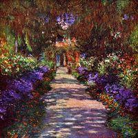 Reprodukcje obrazów Path in Monets Garden - Claude Monet Rozmiar - 40x40