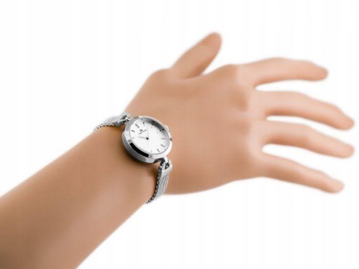 Srebrny zegarek damski bransoleta jordan kerr - pt zdjęcie 7