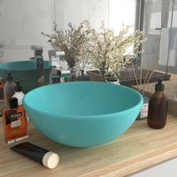 Okrągła umywalka łazienkowa, matowa jasnozielona, 32,5 x 14 cm