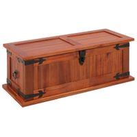 Skrzynia lite drewno akacjowe 60x25x22cm VidaXL