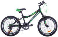 Rower dziecięcy 20 Fuzlu Pro Team czarno-zielony