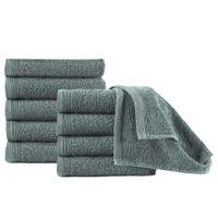 Ręczniki Hotelowe 10 Szt., Bawełna, 450 G/m², 30X50 Cm, Zielone