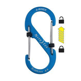 Nite Ize Karabińczyk S-Biner SlideLock #4 aluminium niebieski