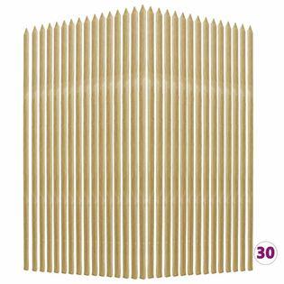 Lumarko Tyczki do roślin, 30 szt., 2,8x2,8x150 cm, drewno sosnowe