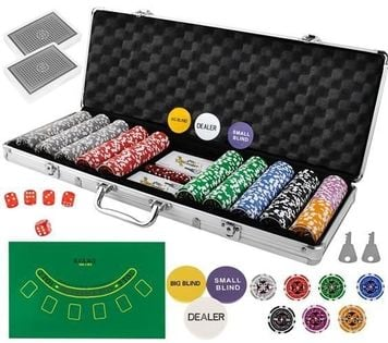 Poker - Zestaw 500 Żetonów W Walizce Hq