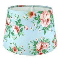 Klosz abażur do lampy kwiatki niebieski 20 cm