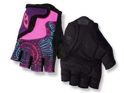 Rękawiczki juniorskie GIRO BRAVO JR krótki palec blossom roz. M (obwód dłoni 152-162 mm / dł. dłoni 160-165 mm) (NEW)