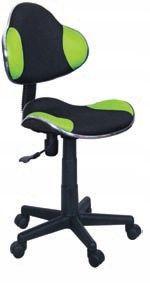 Fotel do biurka Q-G2 dla dziecka CZARNO-ZIELONY