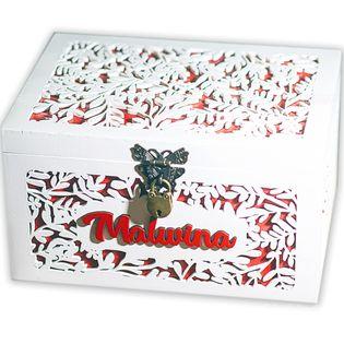 Pudełko na prezent Chrzest Roczek Urodziny Personalizowane