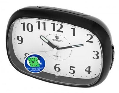Perfect RD 855 Budzik analogowy, alarm, drzemka, podświetlenie, szerokość ok. 12 cm