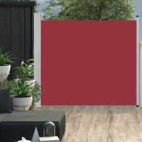 VidaXL Wysuwana markiza boczna na taras, 100 x 300 cm, czerwona