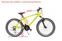 Rower chłopięcy 24 Kands Leopardo 2020 seledynowy