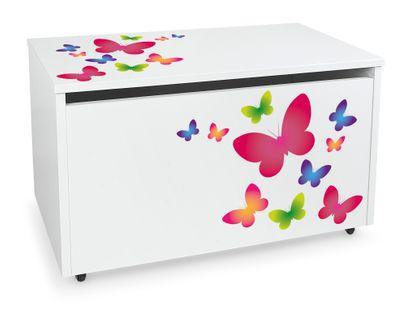 Mobilna skrzynia na zabawki duża Kolorowe motyle