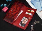 Brązowy Damski Duży Portfel Skórzany RFID Dwuczęściowy G37 zdjęcie 6