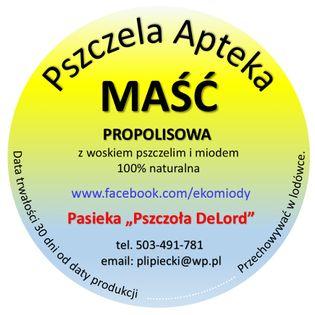 Maść propolisowa z woskiem pszczelim AZS Łuszczyca
