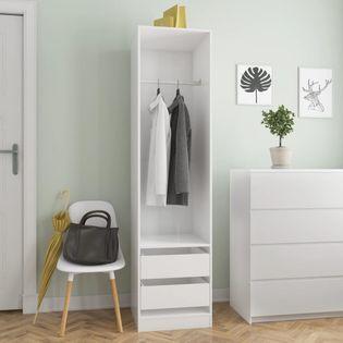 Szafa z szufladami wysoki połysk biała 50x50x200cm VidaXL