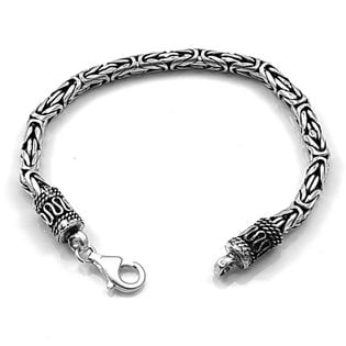 Bransoleta srebrna oksydowana 17,5 cm