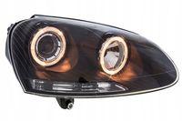 Lampy VW GOLF V 5 03-09 ringi soczewki black FK