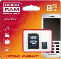 Karta pamięci MicroSDHC GOODRAM 8GB Class4 + Adapter