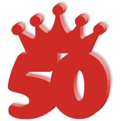 KOTYLION odznaka broszka na 50 URODZINY czerwona na Arena.pl