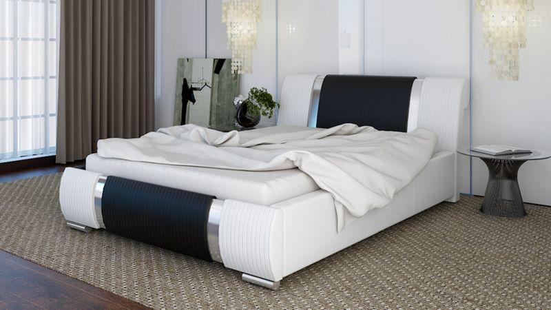 Duże łóżko 180x200 Tapicerowane Z Pojemnikiem łóżko Sypialniane