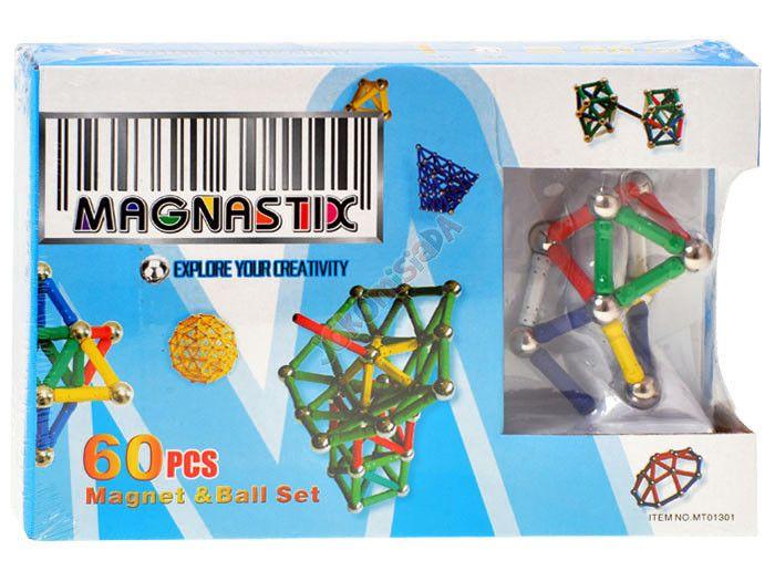 Klocki Magnetyczne 60 elementów MAGNASTIX ZA0655 zdjęcie 6