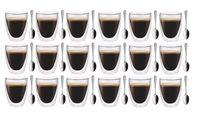 Szklanki z Podwójną Ścianką do Kawy Latte 235ml z Łyżeczkami 18 sztuk