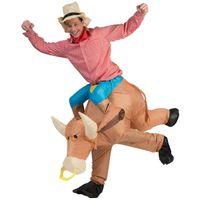 strój KOWBOJ cowboy na BYKU dmuchany BYK roz uniwe