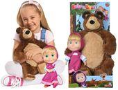 Simba Masza i Niedźwiedź 2w1 lalka Masza 22 cm i maskotka niedźwiedzia Miszy 42 cm 930-1016
