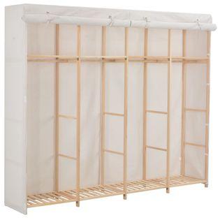 Szafa, biała, 200x40x170 cm, materiałowa