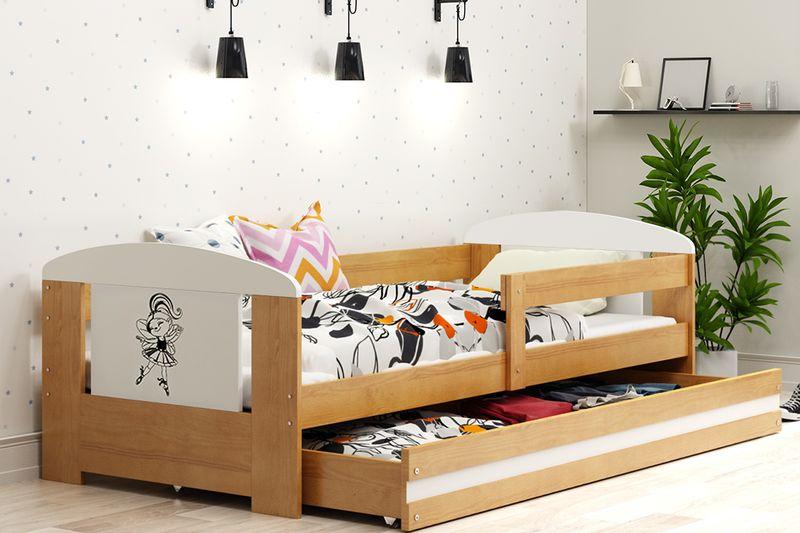 Łóżko pojedyncze FILIP 160x80 dla dzieci + SZUFLADA + BARIERKA zdjęcie 15
