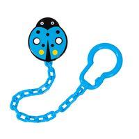 Canpol babies łańcuszek do smoczka uspokajającego BIEDRONKA - Niebieska