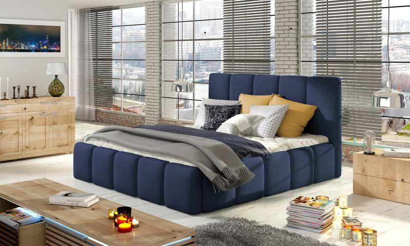 łóżko Edvige 160x200 Do Sypialni Szare Ribes