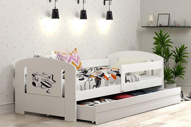 Łóżko pojedyncze FILIP 160x80 dla dzieci + SZUFLADA + BARIERKA zdjęcie 2
