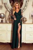 Długa Sukienka LUNA koronkowa - Zielony M (38)