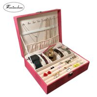 Skórzane pudełko na biżuterię ze wzorem jaszczurki
