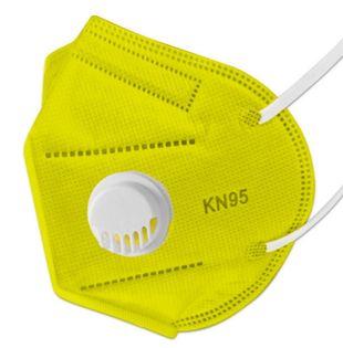 Maseczki antywirusowe ochronne 5 szt Żółte KN 95 FFP2