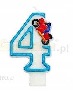 Świeczka z motorem Urodziny cyfry 3, 4, 5, 7 ,8, 9