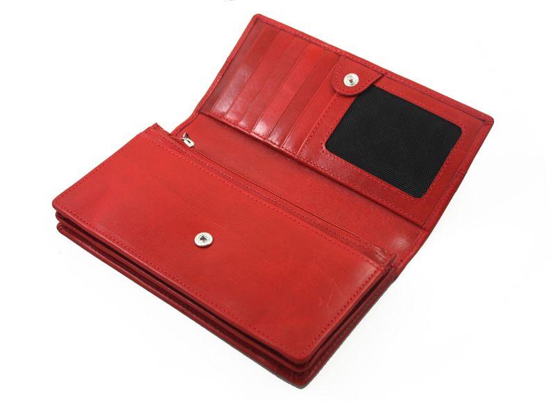 Portfel damski Samsonite RFID, skórzany w kolorze czerwonym zdjęcie 7