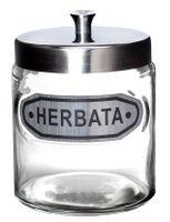 Pojemnik spożywczy słoik szklany napis HERBATA 830 ml