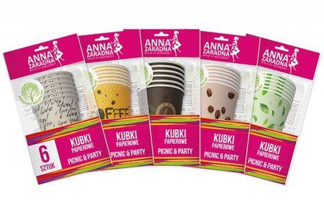 Kubki Papierowe Anna Zaradna, 200 Ml, 6 Szt., Mix Kolorów