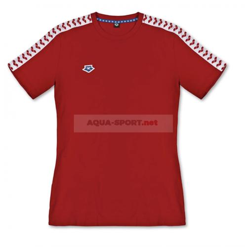 ARENA KOSZULKA WOMEN T-SHIRT TEAM ICONS RED-WHITE-RED ROZMIAR L na Arena.pl