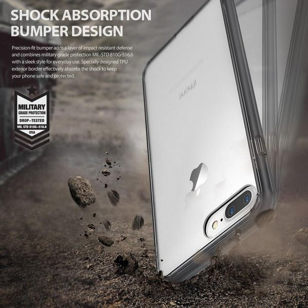 Etui Ringke Fusion iPhone 7 Plus / 8 Plus czarne zdjęcie 6