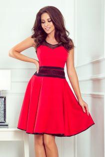 NUM 261-1 Sukienka z tiulowymi wstawkami _40 L 24h
